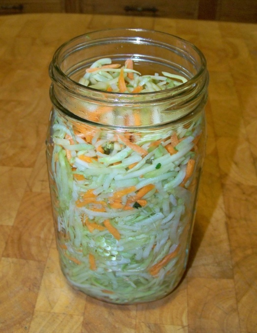 Leave One Inch Head Room for Fermented Broccoli Kraut