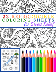 22 Reproducible Coloring Images for Stress Relief